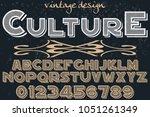 font alphabet typeface... | Shutterstock .eps vector #1051261349