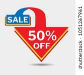 50  off triangle discount... | Shutterstock .eps vector #1051267961