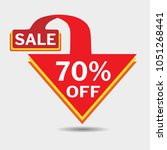 70  off triangle discount... | Shutterstock .eps vector #1051268441