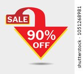 90  off triangle discount... | Shutterstock .eps vector #1051268981