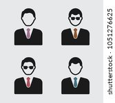 businessman vector icon | Shutterstock .eps vector #1051276625