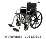 Wheelchair Isolated On White...