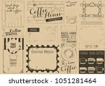 coffee menu placemat design.... | Shutterstock .eps vector #1051281464