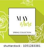design banner with lettering... | Shutterstock .eps vector #1051283381