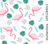 tropical seamless pattern with... | Shutterstock .eps vector #1051284011