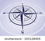 compass rose. vector... | Shutterstock .eps vector #105128405