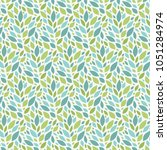 spring leaves vector pattern... | Shutterstock .eps vector #1051284974