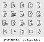 smartphone function line icon | Shutterstock .eps vector #1051285277