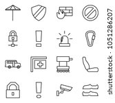 flat vector icon set   umbrella ... | Shutterstock .eps vector #1051286207