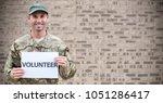 digital composite of soldier...   Shutterstock . vector #1051286417