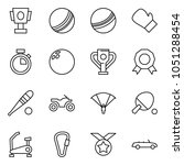 flat vector icon set   cup... | Shutterstock .eps vector #1051288454