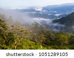 landscape with clouds  jungles  ... | Shutterstock . vector #1051289105