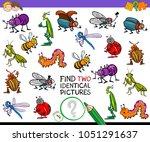 cartoon illustration of finding ... | Shutterstock .eps vector #1051291637