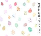 simple hand drawn tile pattern... | Shutterstock .eps vector #1051299749