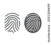 finger print line and glyph...   Shutterstock .eps vector #1051304699