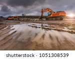 a hard day of work in road... | Shutterstock . vector #1051308539