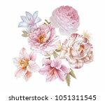 the visual enjoyment of flowers ... | Shutterstock . vector #1051311545