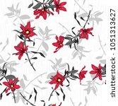 vector seamless beautiful...   Shutterstock .eps vector #1051313627