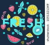 fresh market design concept....   Shutterstock .eps vector #1051321349