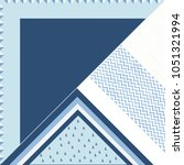 geometric silk scarf design | Shutterstock .eps vector #1051321994