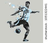soccer player with a graphic... | Shutterstock .eps vector #1051322441