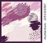 silk scarf design | Shutterstock .eps vector #1051323587