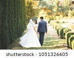 perfect couple bride  groom... | Shutterstock . vector #1051326605