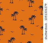 seamless palm trees pattern....   Shutterstock .eps vector #1051331279