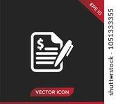 contract icon vector | Shutterstock .eps vector #1051333355