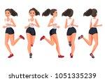 vector illustration of running... | Shutterstock .eps vector #1051335239