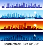 Cityscapes At Different Time O...