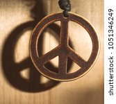 symbol of peace love and not... | Shutterstock . vector #1051346249