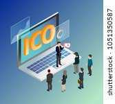 initial coin offering ico... | Shutterstock .eps vector #1051350587