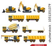 a set of construction machinery ... | Shutterstock .eps vector #1051351379