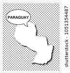 pop art map of paraguay | Shutterstock .eps vector #1051354487