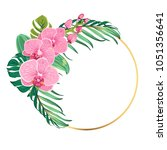 round circle ring border frame...   Shutterstock .eps vector #1051356641