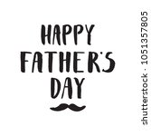 happy father s day vector... | Shutterstock .eps vector #1051357805