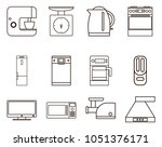 kitchen icon set | Shutterstock .eps vector #1051376171