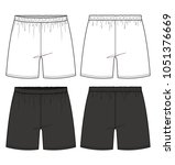 short pants fashion vector... | Shutterstock .eps vector #1051376669