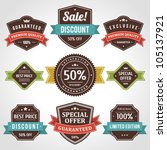 vintage labels and ribbon retro ... | Shutterstock .eps vector #105137921