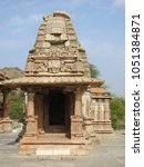 Small photo of Intricately carved shrines at Sahastra Bahu Temple complex, Nagda, Udaipur, Rajasthan, India
