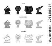 gold pistol  silver prize for... | Shutterstock .eps vector #1051388339