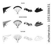 hang glider  parachute  racing... | Shutterstock .eps vector #1051388651
