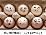 photo of fresh eggs with... | Shutterstock . vector #1051394135