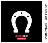 horseshoe vector icon...