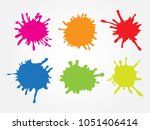 set of paint splatters. vector...