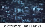 illustration cryptocurrency... | Shutterstock . vector #1051413491