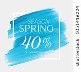 spring sale 40  off sign over...   Shutterstock .eps vector #1051416224