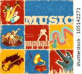 illustration of collage of... | Shutterstock .eps vector #105142271