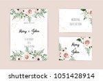vector invitation with handmade ... | Shutterstock .eps vector #1051428914